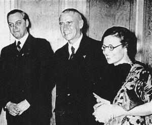 Sitsa Karaïskaki with Alfred Rosenberg