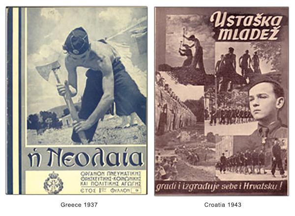 Ustasha youth Ustaška Mladež Greek fascist youth EON Croatian