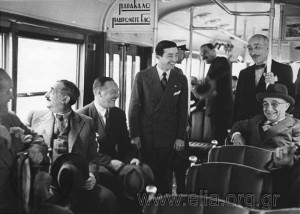 6K12.026 Ioannis Metaxas and cabinet Ministers (?) on a new bus