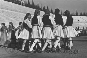 L117.136 Commemoration of 4th August at the Panathenaic Stadium- Ioannis Metaxas entering the Stadium