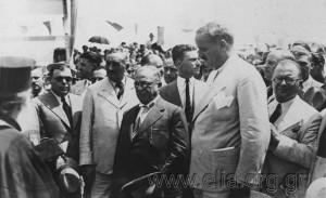 L118.299 Ο Κ. Κοτζιάς, ο Ι. Μεταξάς και ο Θ. Τουρκοβασίλης στη Νέα Φιλαδέλφεια κατά τον εορτασμό της 4ης Αυγούστου